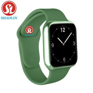 Image 1 - 38Mm Smart Horloge Serie 5 Mannen Vrouwen Horloge Hartslagmeter Bericht Herinnering Voor Android Apple Horloge Pk P68 a1 Iwo Smartwatch