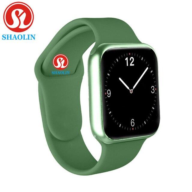 38Mm Smart Horloge Serie 5 Mannen Vrouwen Horloge Hartslagmeter Bericht Herinnering Voor Android Apple Horloge Pk P68 a1 Iwo Smartwatch