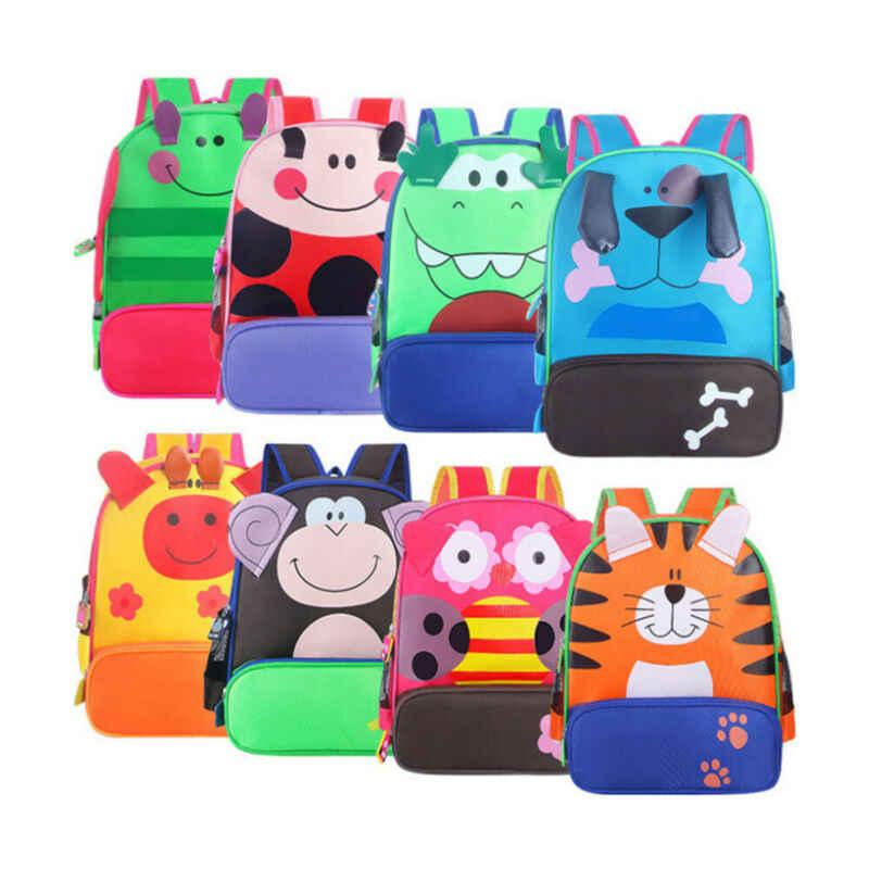 Mooie Peuter Baby Jongens Meisjes Kids Leuke Cartoon Patroon Dieren Rugzak Schooltas Rugzak Reizen Bag