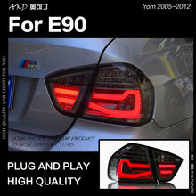 Car Styling per BMW E90 LED Luce di Coda 2005-2012 318i 320i 323i 325i 330i Lampada di Coda DRL Segnale inversione del freno Accessori auto(China)