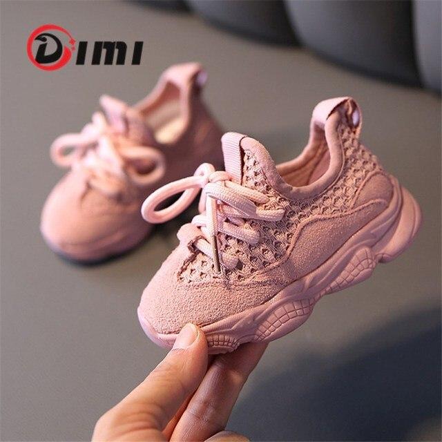 DIMI 2020 sonbahar bebek kız erkek bebek ayakkabısı bebek rahat koşu ayakkabıları yumuşak alt rahat nefes çocuk Sneaker