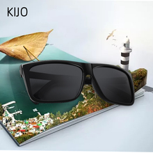 KIJO 2020 New Polarized Sunglasses Men Mirrored Driving Glasses Black R