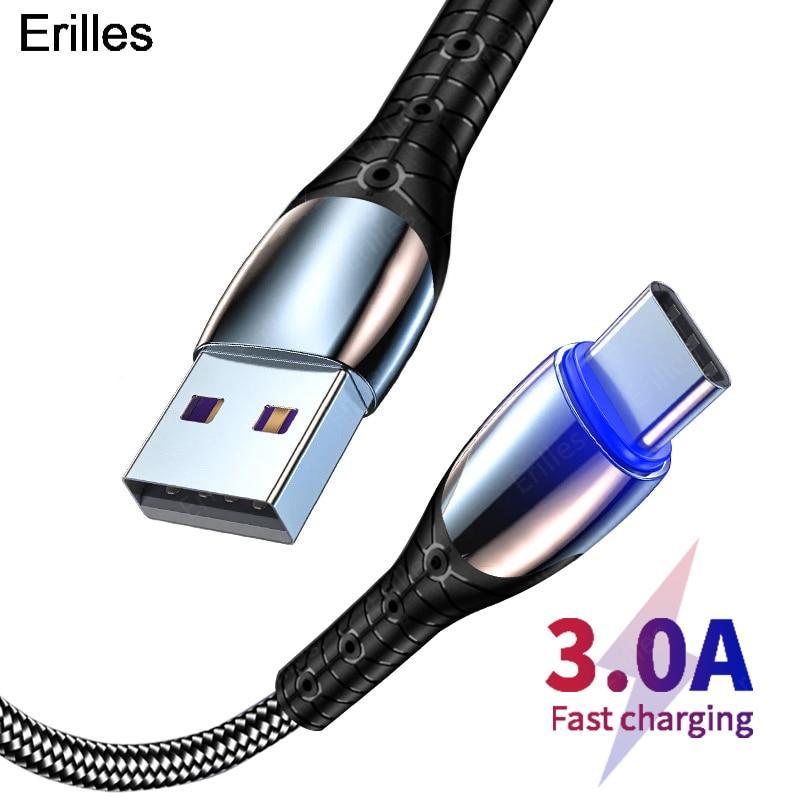 Кабель Micro-USB Type-C для быстрой зарядки USB кабели для xiaomi mi 10 Samsung S10 S9 Huawei mate 40 мобильных телефонов зарядное устройство USB-C кабель