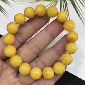 Image 4 - 11.2 มม.ธรรมชาติสีเหลือง Amber อัญมณีรอบสร้อยข้อมือผู้หญิงผู้ชาย Healing ยืด Reiki Amber ใบรับรองเครื่องประดับ AAAAA