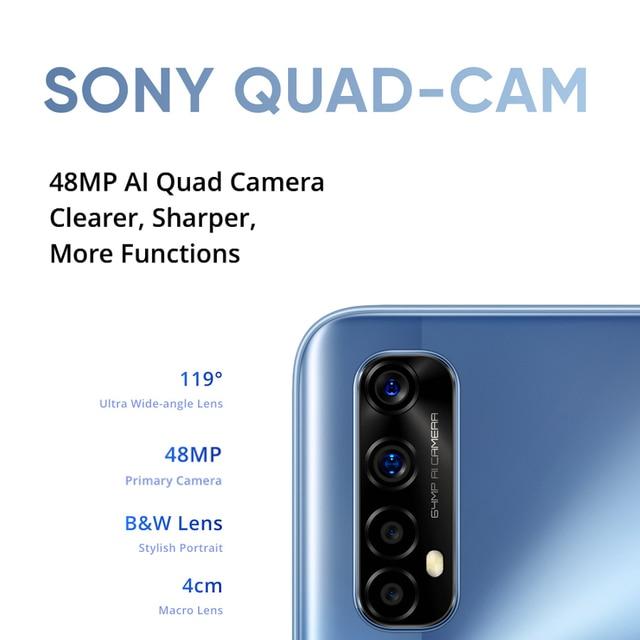 realme 7 NFC 6.5''FHD+ Global 6/8GB 64/128GB Smartphone 30W Dart Charge 5V/6A Helio G95 48MP 5000mAh Mobile Phone 3