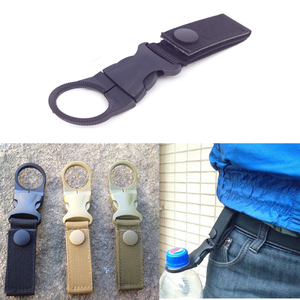 Quickdraw Carabiner outdoor hike Water Bottle Buckle Holder tool molle attach webbing backpack Hanger Hook camp clip hang clasp