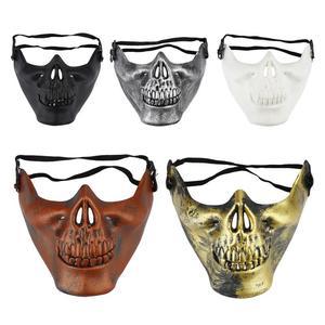 Image 1 - 2020 Year Halloween half face skull mask skull warrior mask CS actual combat mask horror face mask Free Shipping