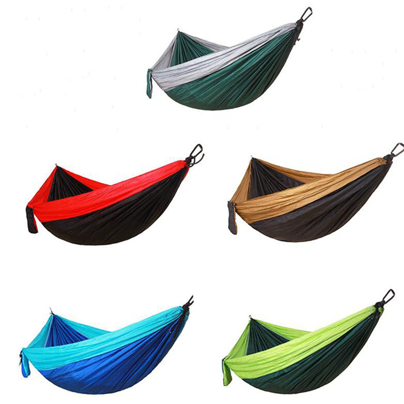 Camping Parachute Outdoor Hammock Garden Furniture Leisure Sleeping Travel Double Hammock 260 * 140cm