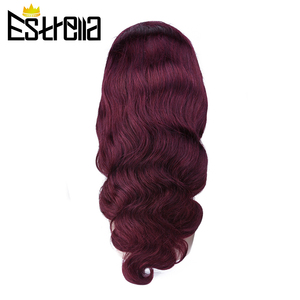 Image 3 - 99J Human Hair Wig Brazilian Straight Body Wave Lace Closure Wigs 4x4 Closure Wig Remy 100% Human Hair Wigs For Women