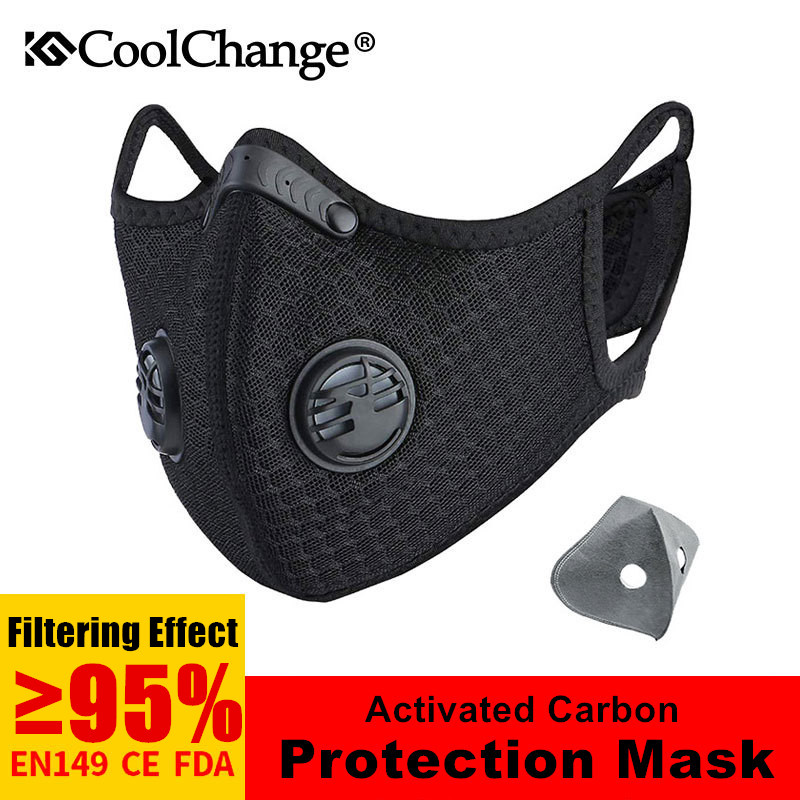Men Women Half Face Cycling Mask With Activated Carbon Filter Anti-Pollution PM2.5 Bike Bicycle Outdoor Face Cover Mask