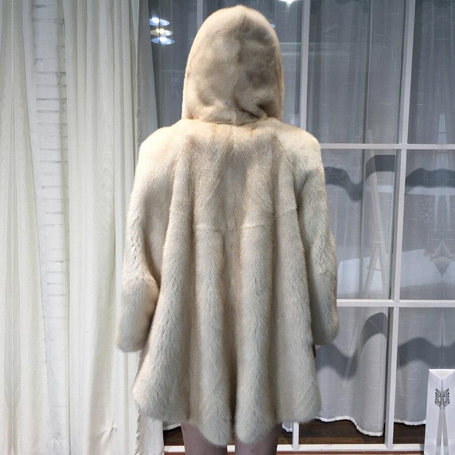 100%Natuarl Mink Fur Coat Women Winter Warm Thick Jacket Top Quality Plus Size Fur Coat Abrigos De Mujer 8821 MF346