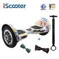 IScooter Hoverbaord 10 дюймов 700 Вт Батарея Электрический самобалансирующийся скутер для взрослых детей скейтборд 10 колес giroskuter