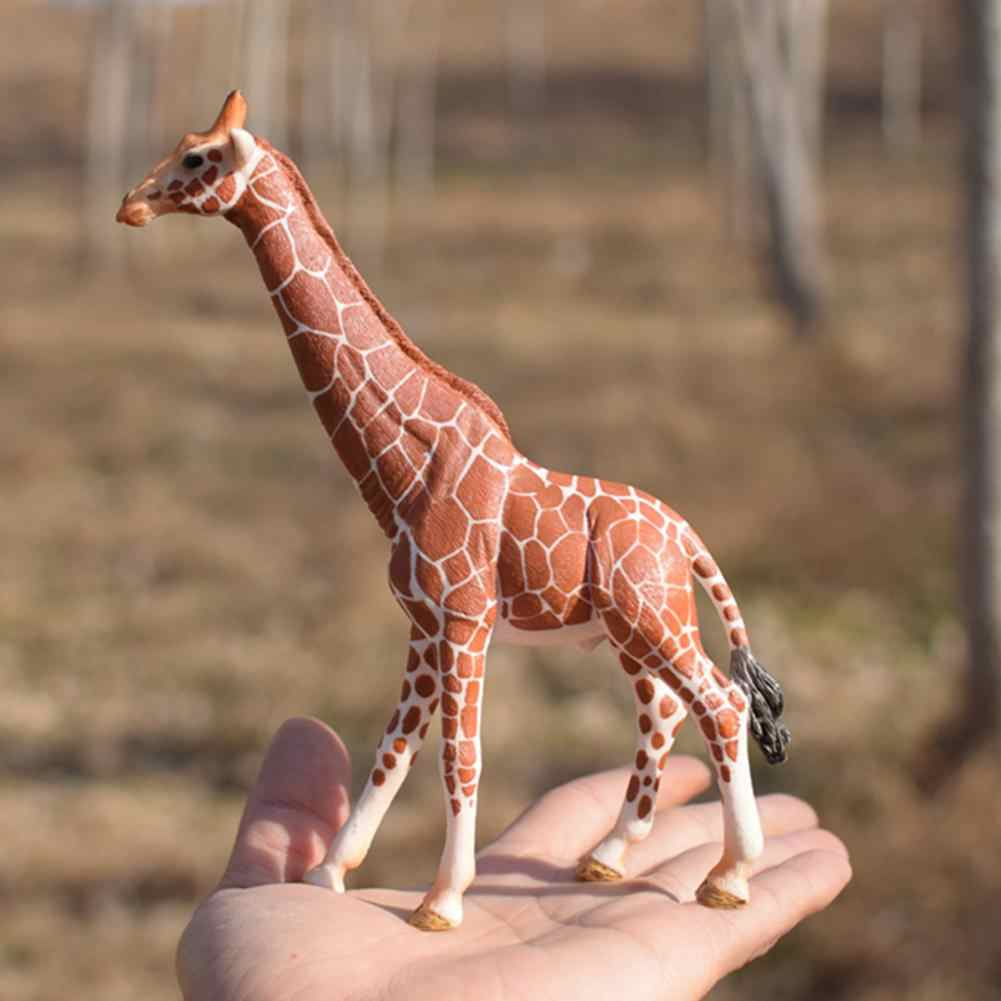 6.7inch/17cm Female Africa Giraffe Wild Life Figurine Toy PVC Animal Model Action Figures Gift Toys For Kids 14750