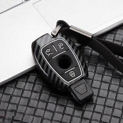 Hợp Kim Kẽm + Ốp Dẻo Silicon + Chìa Khóa Ô Tô Ốp Lưng Dùng Cho Xe Mercedes Benz BGA AMG W203 W210 W211 W124 W202 W204 w205 W212 W176 Phụ Kiện