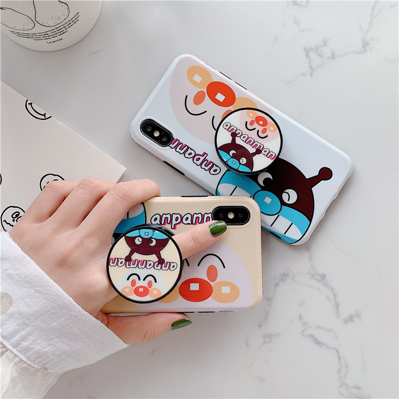 IRONGEER Cartoon <font><b>Anpanman</b></font> Japan Popular Protection Phone <font><b>Case</b></font> With bracket For <font><b>iphone</b></font> X XR XS MAX 6 6s 7 8 Plus Cute Back Cover image