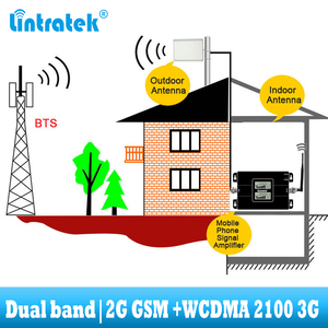 Image 5 - lintratek GSM 900 WCDMA 2100 Cellular signal booster dual band 2G 3G repeater mobile Cell phone communication 2100MHZ amplifier