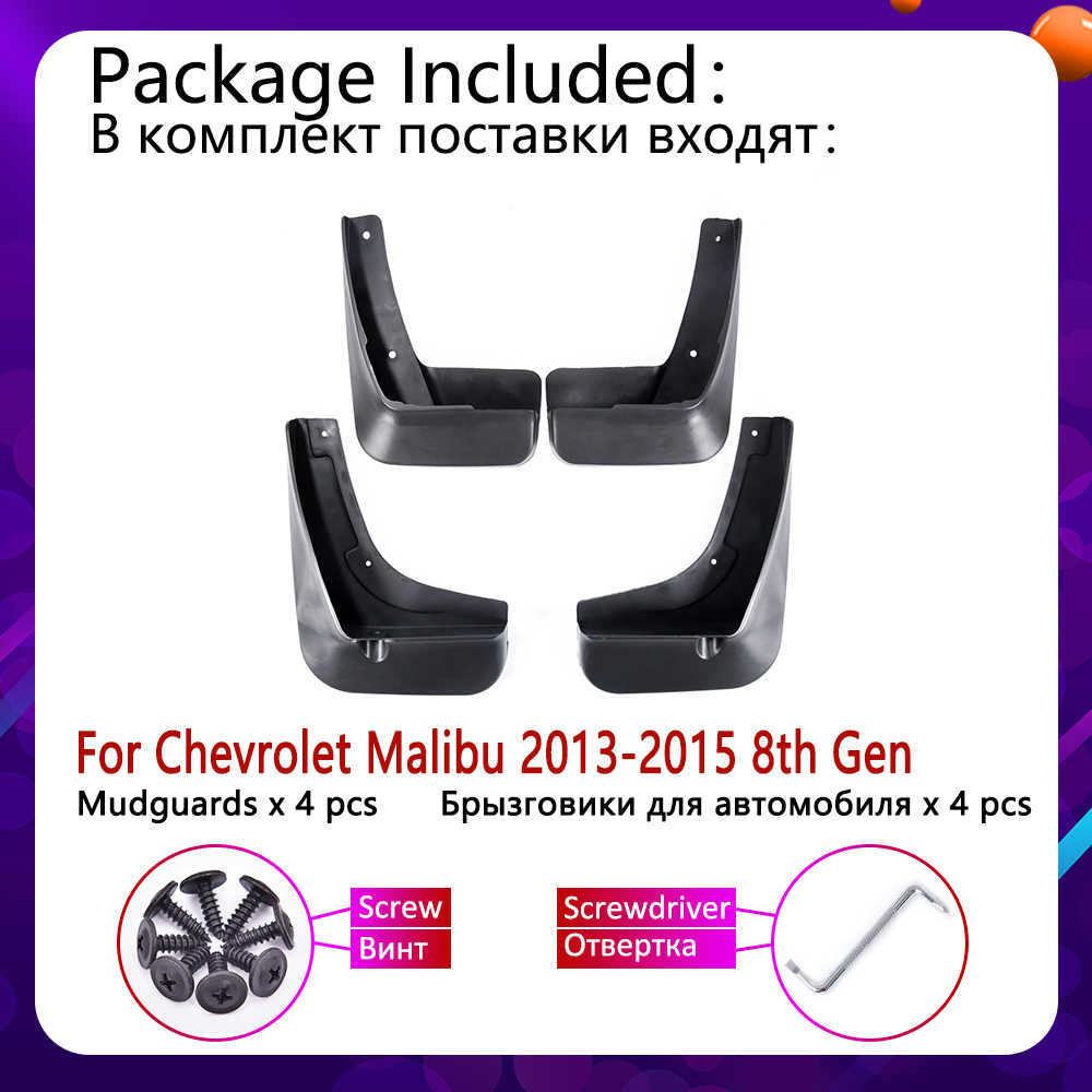 Voor Achter Auto Spatlappen voor Chevrolet Malibu 2013 2014 2015 Spatbord Mud Guard Flappen Splash Flap Spatborden Accessoires 8th 8 gen
