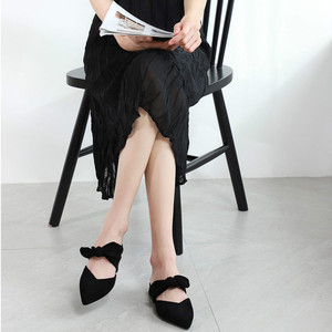 Image 3 - Nova Mulher 2020 Sapatos Chinelos de Verão Das Sandálias Das Mulheres Sapatos Flats Senhoras Rebanho Borboleta Nó Casual Praia Elegante Ao Ar Livre Slides