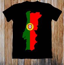 Футболка карта Португалии & flag мужские смешные футболки унисекс