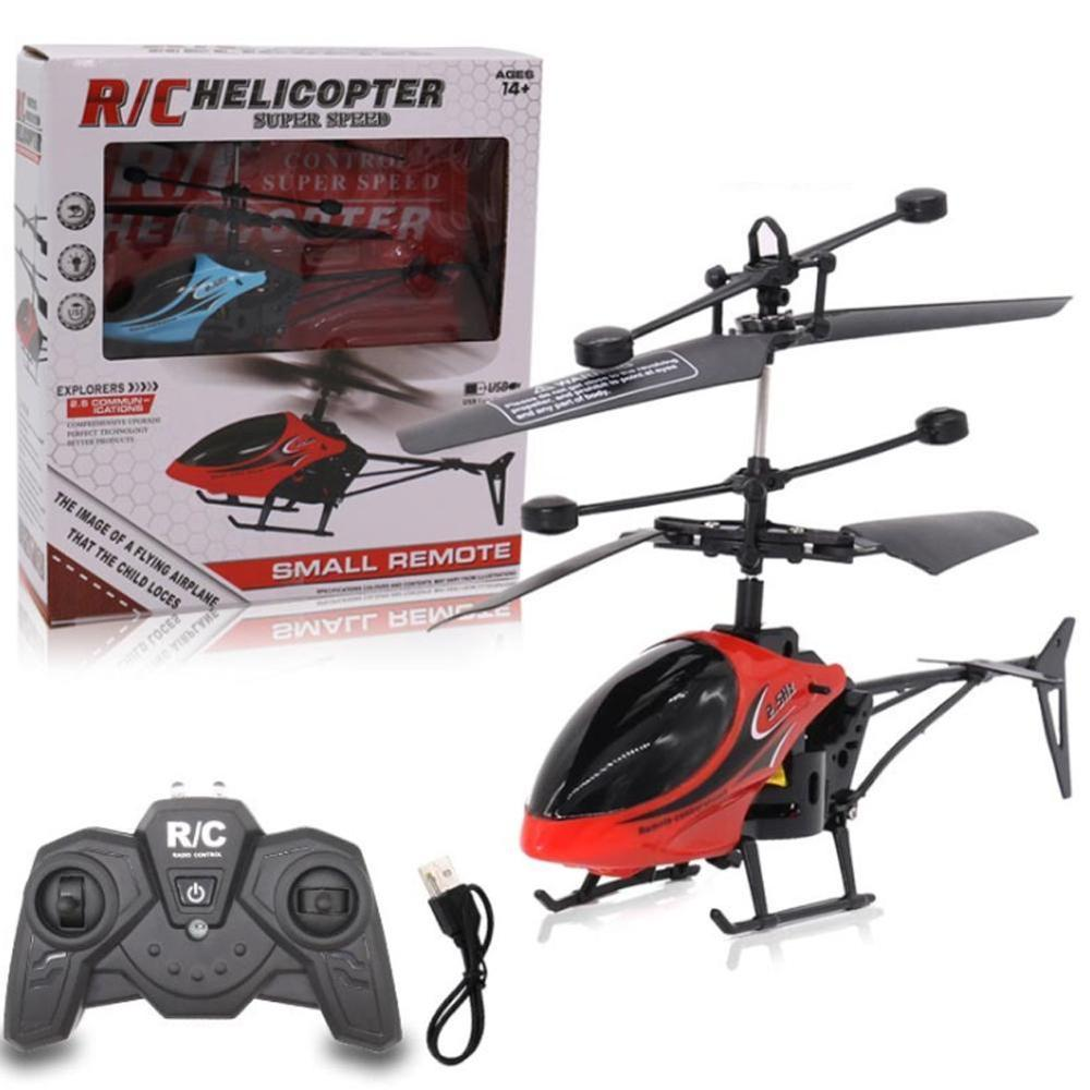 Two-way Remote Control Aircraft with Light USB RC Helicopter Child Model Toy 2-way Remote Control Aircraft