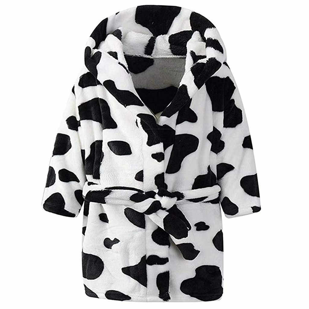 Batas de baño de franela con capucha para niños Unisex, pijamas de toalla, albornoz para bebés, niños, niñas, albornoz de baño #2