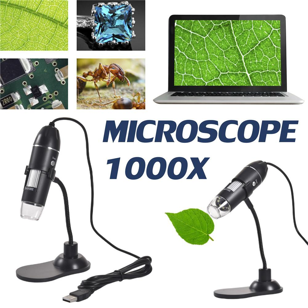 3 In 1 Digital Microscope 1000X Multiple Use Portable Hose Support Magnifier For MAC Windows Microscopio Electronic Magnifier
