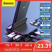 Baseus 7 in 1 USB C HUB Supporto Del Telefono Tipo C Docking Station per Huawei P40 Compagno 30 Samsung S20 s9 a USB 3.0 HUB USB di Tipo C HUB