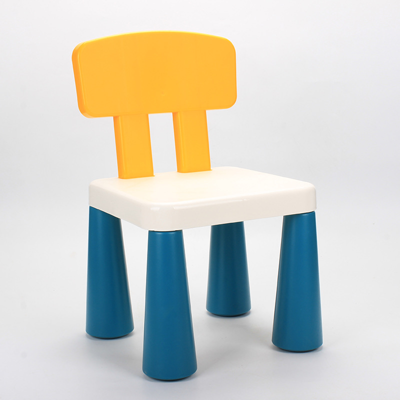Children's Stools Kindergarten Backrest Chairs Baby Dining Chairs Plastic  Home Cartoon Small Stools Non-slip Easy Assemble