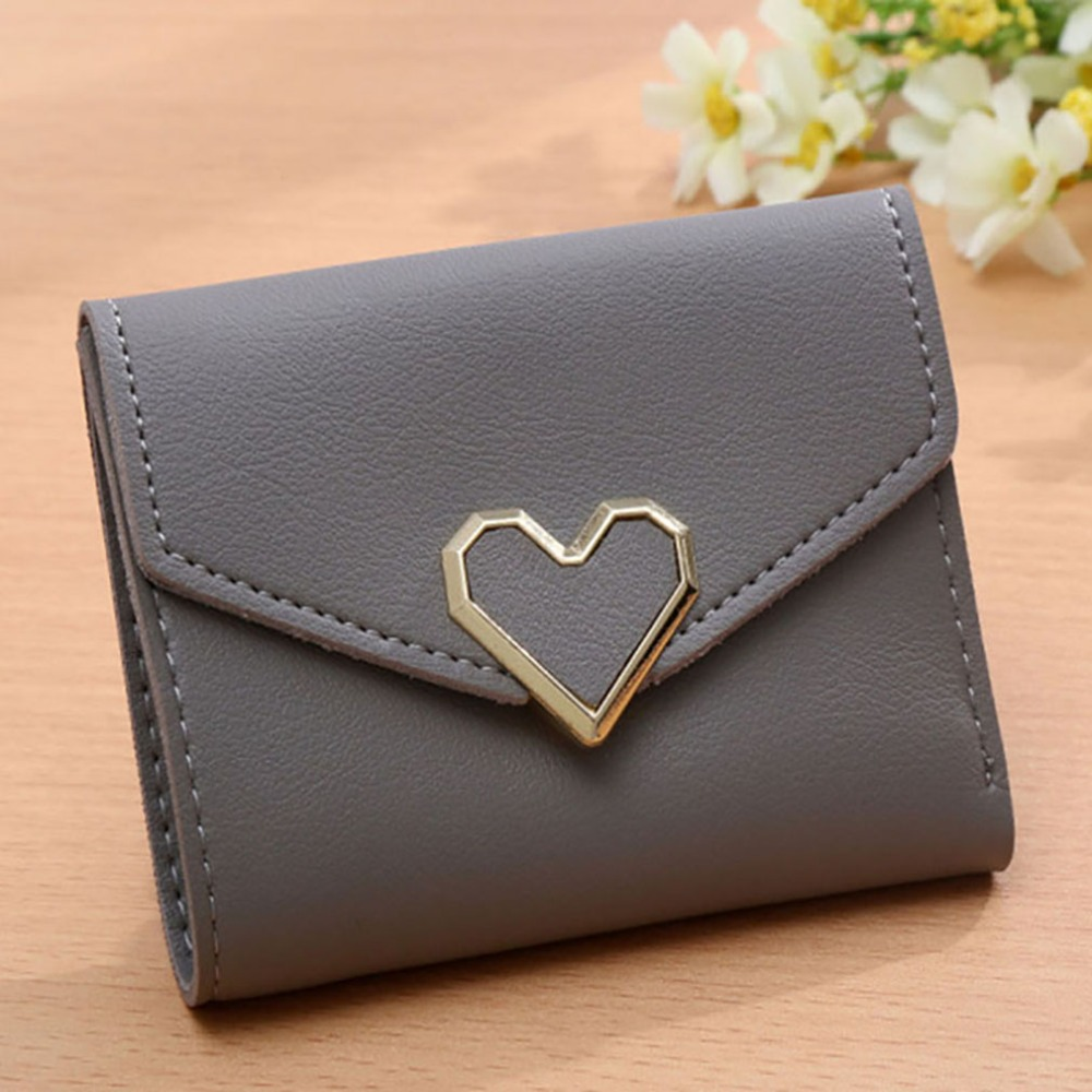 Women Short Wallets Fashion Lady ID Card Holder Coin Pocket Small Wallet Solid Purse Sac A Main Femme De Marque Luxe Cuir 2019