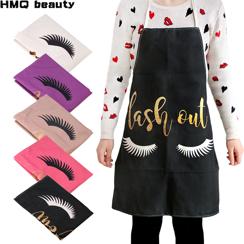 Bronzing Eyelash Pattern Apron Grafting Eyelashes Daidle Dedicated Ladies Adult Clean Pinafore Eyelash Extension Tool