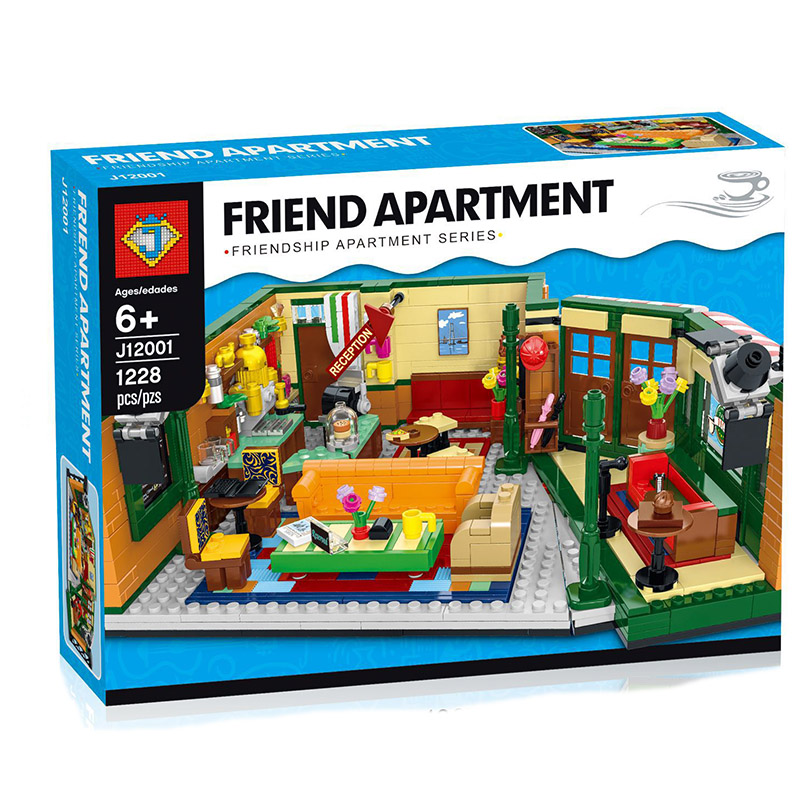 New Classic TV Series American Drama Friends Central Perk Cafe Fit Model Building Block Bricks Lepining Friends 21319 Toy Gift