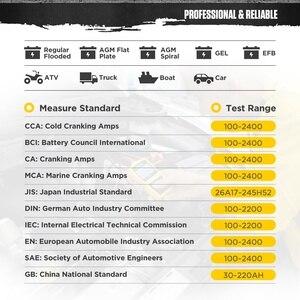 Image 5 - AUTOOL BT360 12V Tester Batteria Auto A Gomito Test Di Carico nalyzer Digital Auto Automotive Diagnostica Batterys Analizzare BT 360