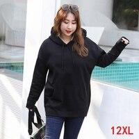 Large size women's hoodie plus size 5XL 6XL 7XL 8XL 9XL 10XL 12XL bust 162cm autumn and winter long sleeve loose sweatshirt