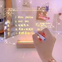 Creative Transparent Acrylic Note Board Message Memo Board For Sticky Notes Name Card Phone Holder Desktop Decoration New 1PC