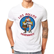 Breaking Bad Camicia LOS POLLOS Hermanos T Shirt Pollo Brothers 2020 di vendita calda di estate 100% di modo del cotone raglan tee(China)