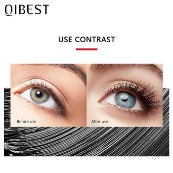 QIBEST Black Mascara Eyelashes Mascara 4D Silky Eyelashes Lengthening Eyelashes Makeup Waterproof Mascara Volume Eye Cosmetics 2