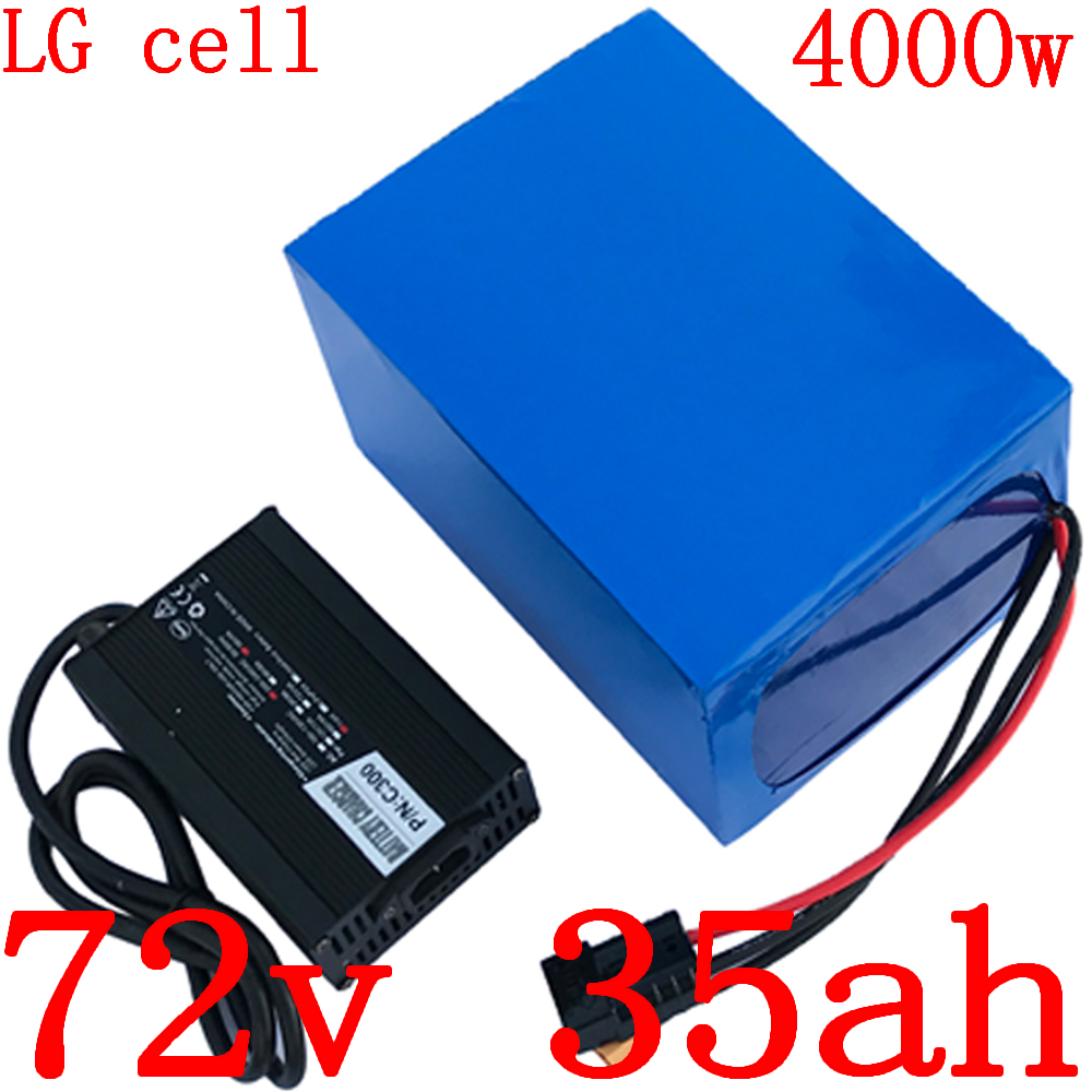 72V scooter battery 72v 35ah lithium ion battery use sanyo cell 72v 35ah electric bicycle battery with 80A BMS+84V 5A charger