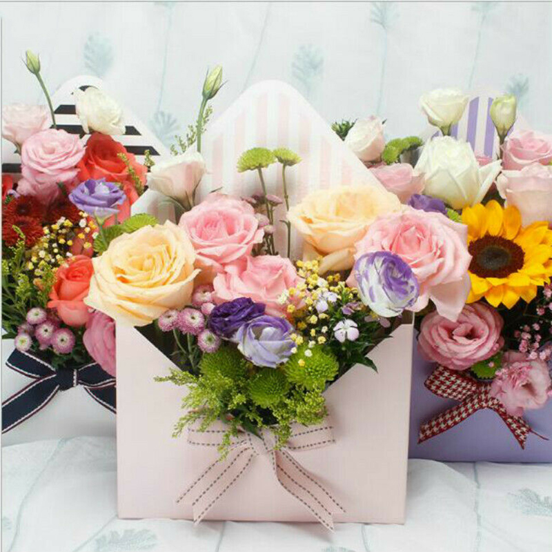 4 Styles High Grade Romantic Envelope Flower Paper Holder Box Bouquet Florist Pack Supply Gift Packaging Box