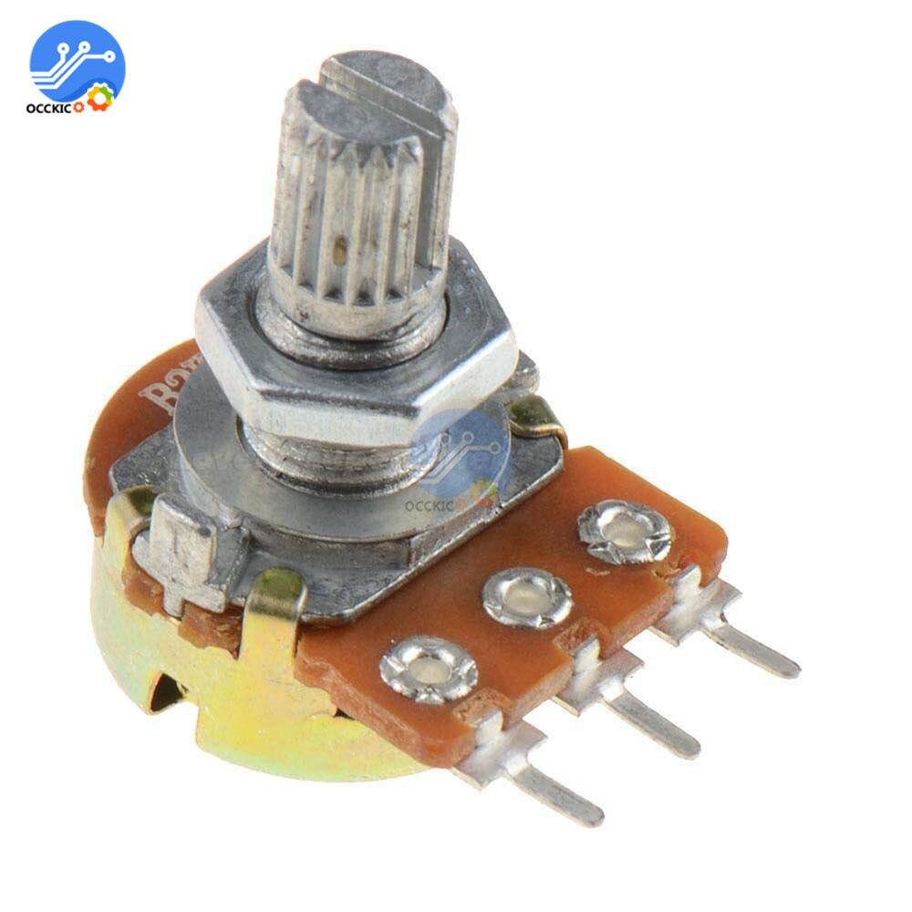 5Pcs WH148 Type B1K Ohm Linear Taper Rotary Potentiometer Panel Pot 3 Pin