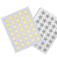 10pcs/pack Cute Gold Silver Mini Star Sticker Teacher Label Reward for Children Kid Students Gift School Office Supplies