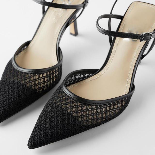 Босоножки на каблуке, сетчатые дышащие для лета 6