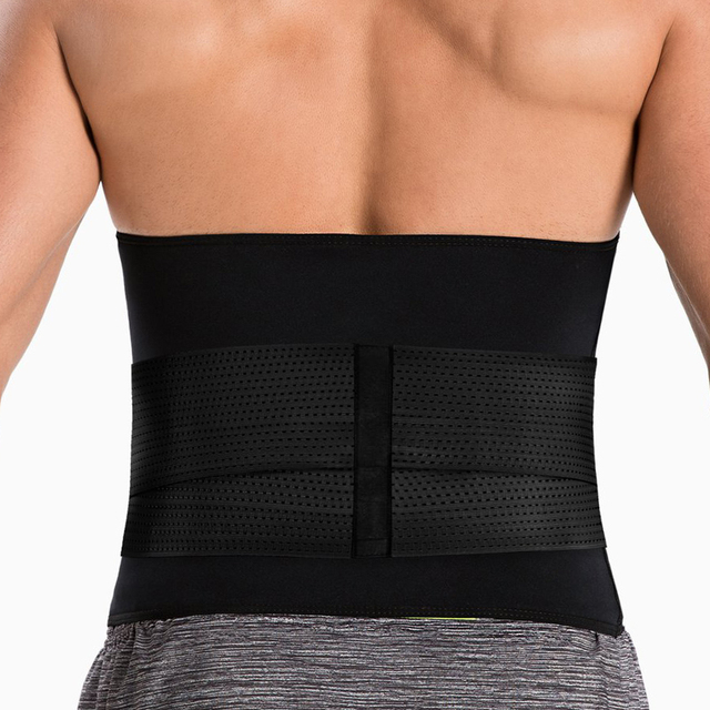 New Men's Workout Waist Trainer Abdomen Sweat Slimming Belt Weight Loss Shapewear Neoprene Body Shapers Belly Sauna Trimmer Belt 1