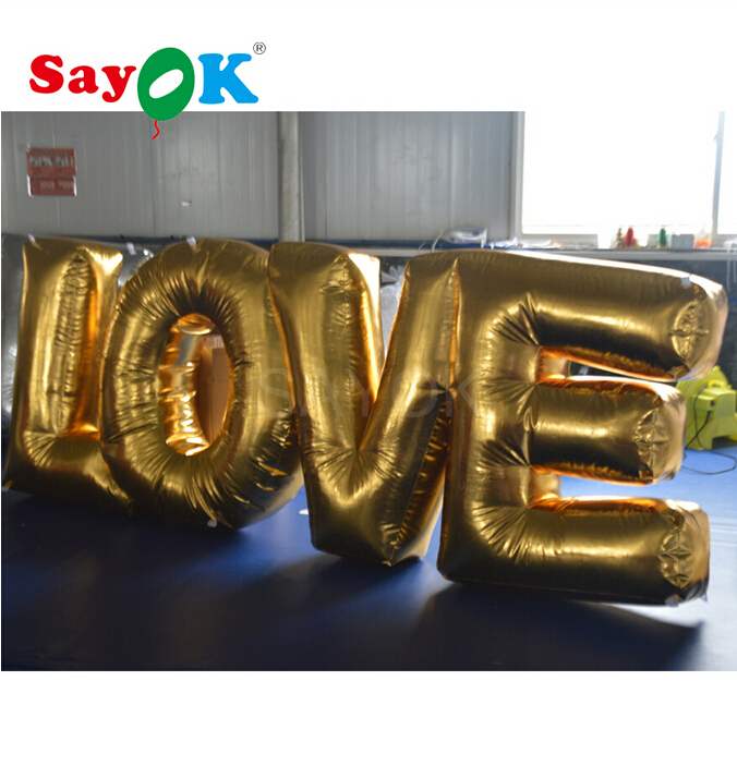 Customized Inflatable Love Letter Inflatable Love Alphabet For Wedding, Valentine's Day