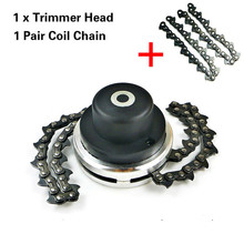Universal 65Mn Trimmer Head Coil Chain Brush Cutter Garden Grass Upgraded with Thickening for Lawn Mower