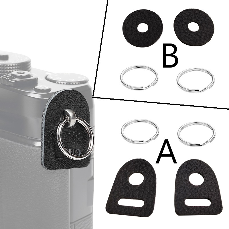 Новинка, кожаный защитный чехол для камеры, ремешок с кольцом-крючком для Fujifilm, Canon, Nikon, Sony, Olympus, Pentax, DSLR-камеры, 1 пара