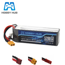 14.8v 5200mAh 30C LiPo Battery For RC Car Airplane Helicopte