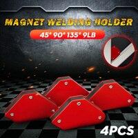 4 teile/los 4 Schweißen Magnet Magnetische Platz Halter Pfeil Clamp 45 ° 90 ° 135 ° 9LB Magnetische Clamp für elektrische Schweißen Eisen Werkzeuge
