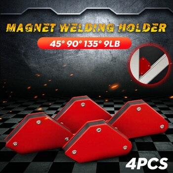 4pcs\/lot 4 Welding Magnet Magnetic Square Holder Arrow Clamp 45\u00b0 90\u00b0 135\u00b0 9LB Magnetic Clamp for Electric Welding Iron Tools