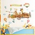 Креативная настенная наклейка, украшение детской комнаты, Настенный декор для детской спальни, дверные наклейки, Мультяшные животные, дома...