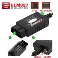 Herramienta de diagnóstico OBD2 con Bluetooth V1.5, Wifi, USB, FTDI, chip con interruptor, lector de código ELM 327 para ford HS CAN y MS CAN